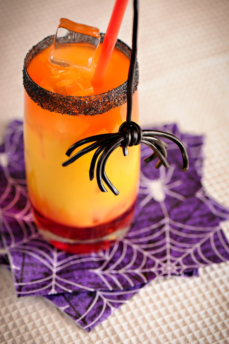 loving this halloween black licorice spider punch from apron strings isnt the licorice spider the b stop by apron strings here for the recipe and - Easy Alcoholic Halloween Punch