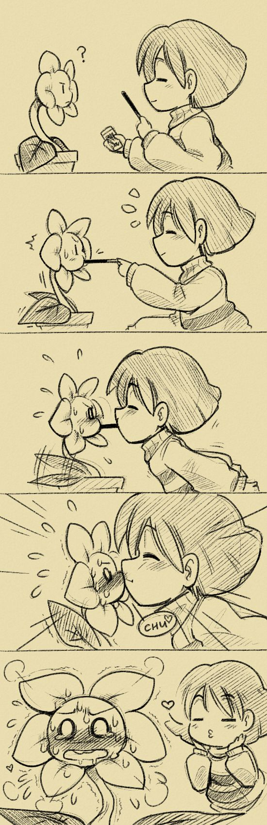 I'm trying SO hard to not ship. I only like Chara x Flowey, Sans x Frisk, and Papyrus x Undyne