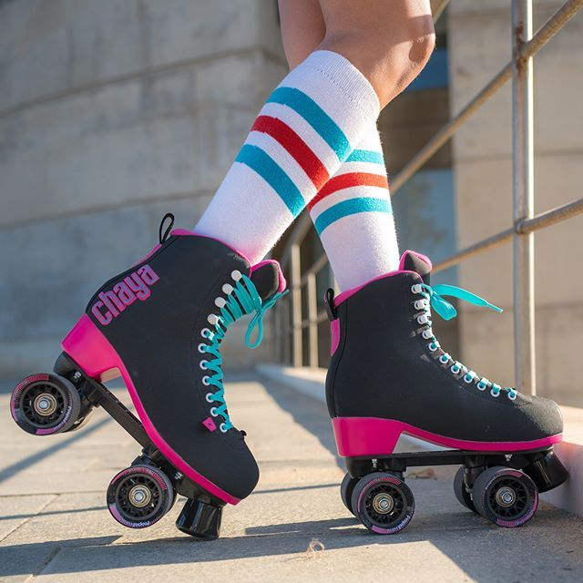 NEW in stock and available NOW ➡️ Melrose Black/Pink 🖤💕 Contact your favourite @chaya_skates dealer for availability and see link in our bio above for more info 🔝 #itstime . #chaya #chayaskates #chayalifestyle #chayapark #chayadance #powerslide #quadskating #quads #rollerskating #parkskating #rollerskates #chicksinbowls #lifestyle #skate #skatelife #RollerskateEverywhere #patines #blackskates #pinkskates