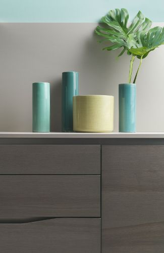 vases pastels cuisine dialogue