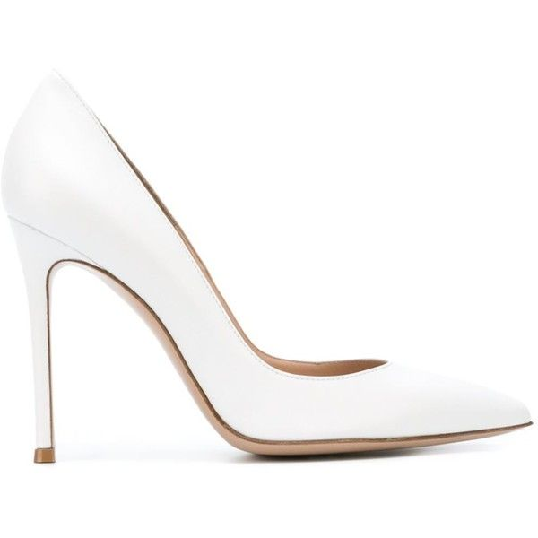 Gianvito Rossi Gianvito Pumps found on Polyvore featuring shoes, pumps, heels, white, zapatos, high heels stilettos, white pumps, heels stilettos, leather pointed toe pumps and stiletto heel pumps