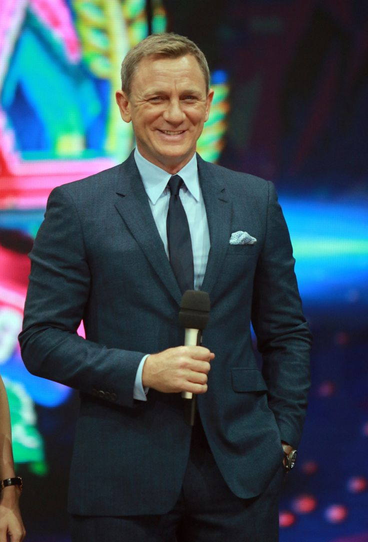 Daniel Craig attends the recording of TV program 'Day Day Up' on November 11, 2015 in Changsha, Hunan Province of China.