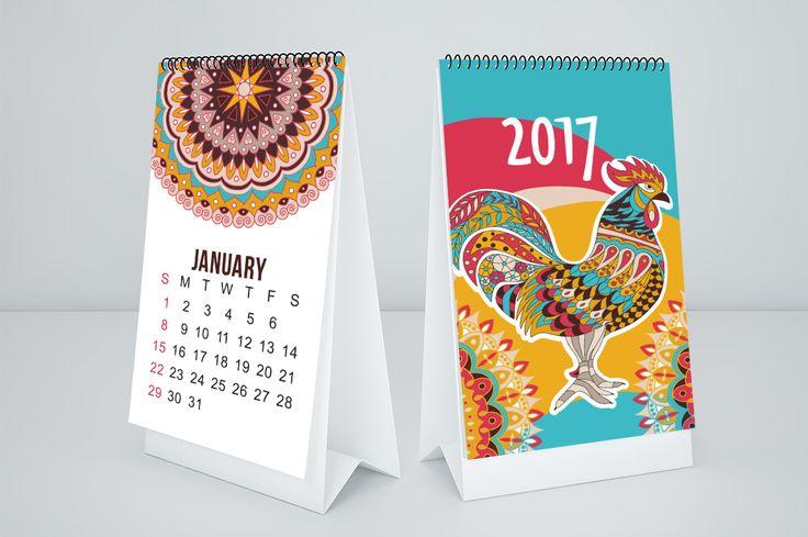 2017 monthly calendar template on Behance