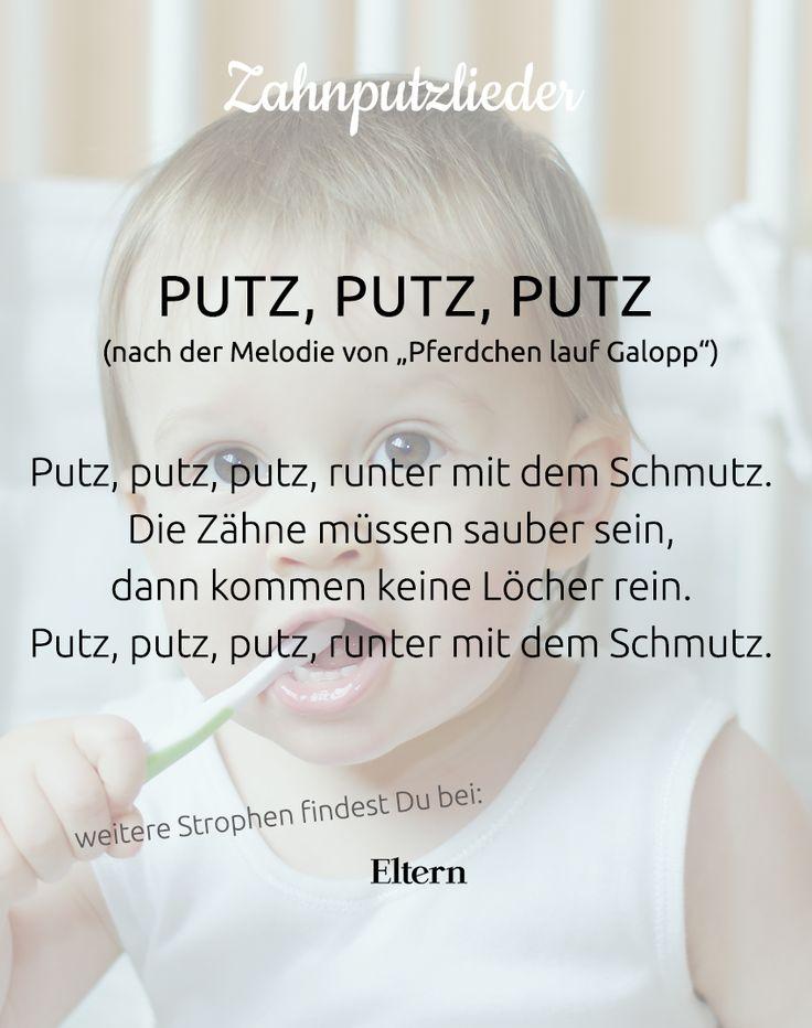 Die schönsten Zahnputzlieder und Zahnputzreime für Babys