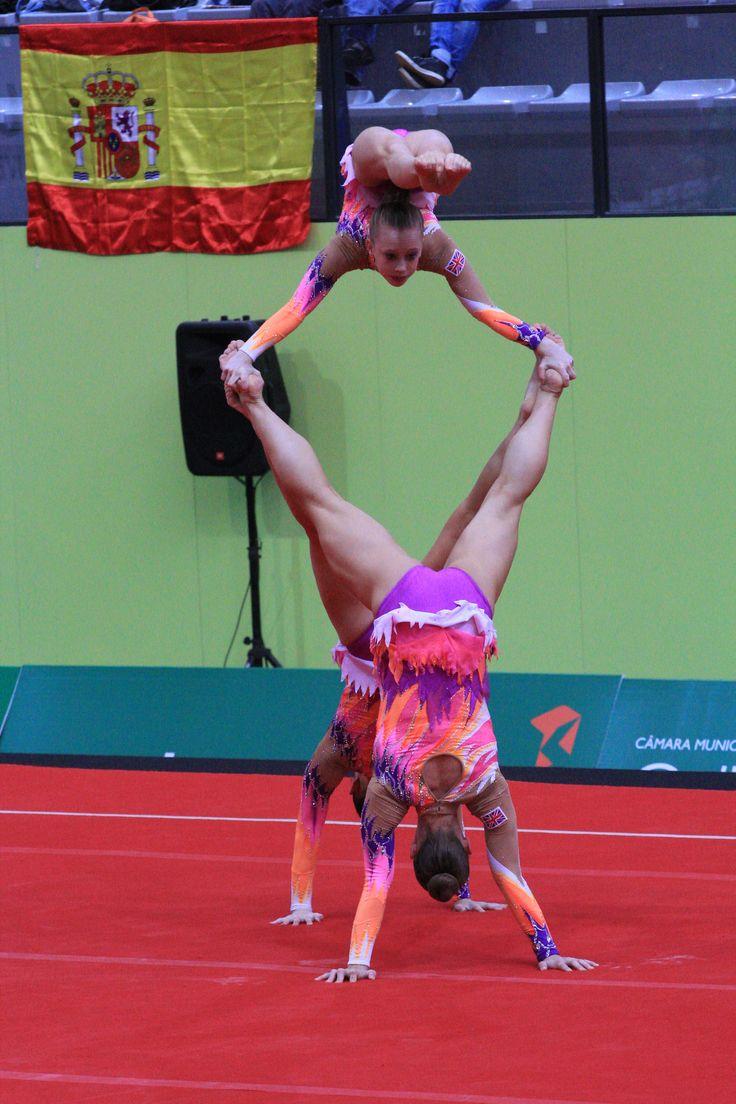 Acro European Championships 2013 Silver Medal Junior women
