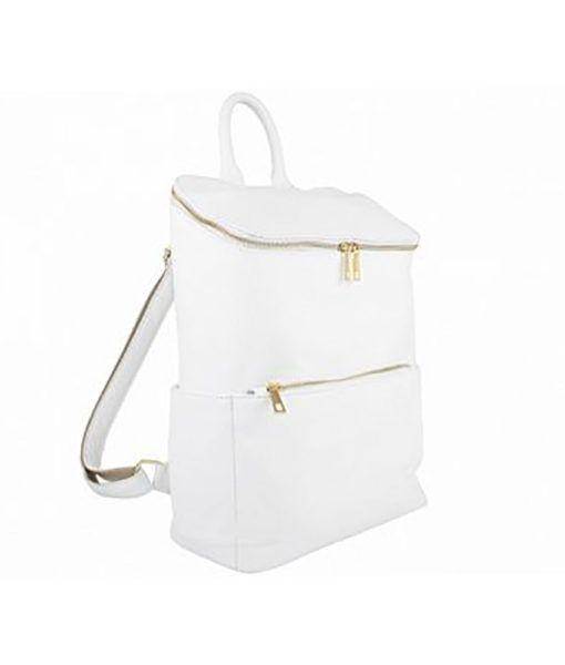 Fehér szögletes háti táska