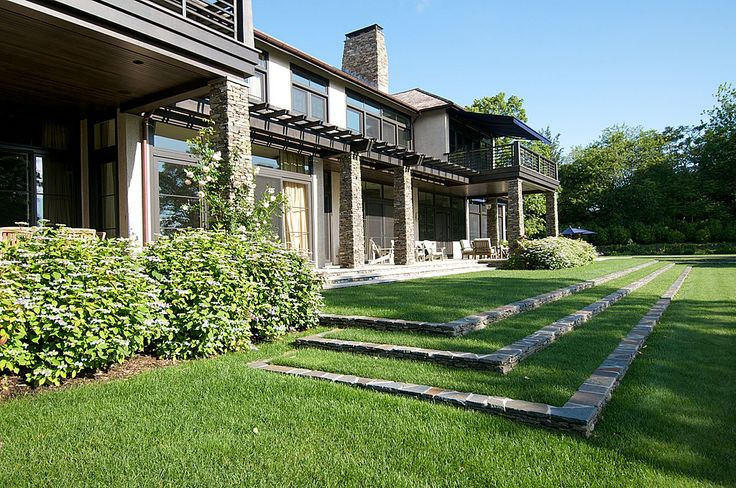 Squeeze In A Little Extra Lawn With Grassy Backyard Steps
