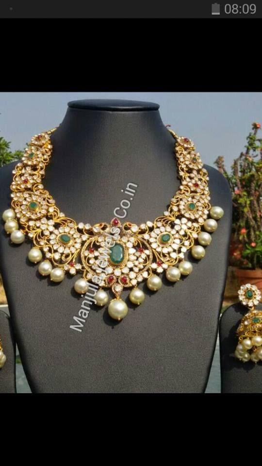 necklace and earringa