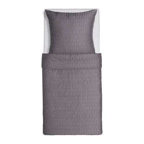 STRANDGYLLEN Duvet cover and pillowcase(s), gray gray Twin