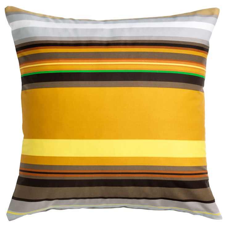 Ikea Stockholm Yellow Brown White Stripe Cushion Cover 20 X Sleeve Only