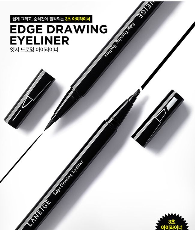 Laneige Edge Drawing Eyeliner 0.55mlDescriptionMade for diverse eye shapes, Easy for beginners ¡°3 Seconds EyelinerGlobal premium brand LANEIGE has launched the long-lasting Edge Drawing Eyeliner that has been optimized for each eye shape, helping even