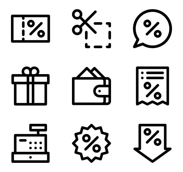 36 Black Friday icons for personal and commercial use.  Basic Rounded Lineal icons. Download for free at flaticon.com now! #Flaticon #freeicons #icons #ecommerce #sales #business #blackfriday