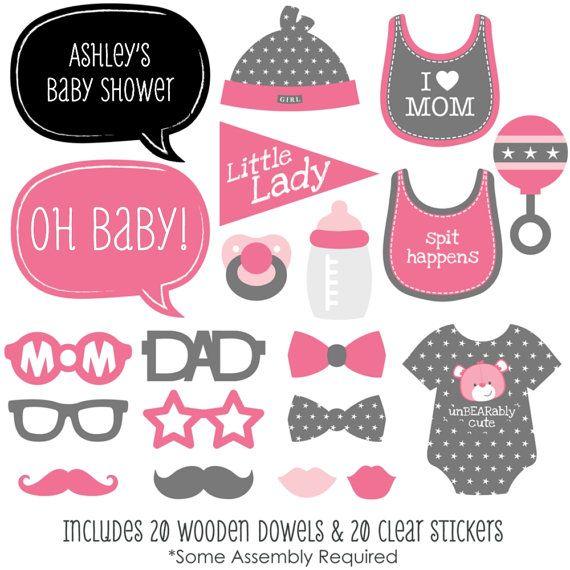 20 baby ducha cabina apoyos de la foto Kit por BigDotOfHappiness