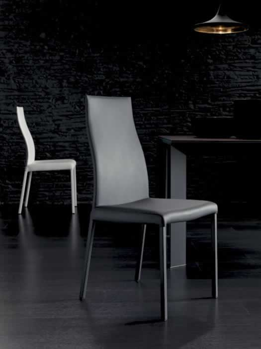BLITZ, design: Studio Ozeta - Metal frame chair with soft eco leather covering.www.ozzio.com