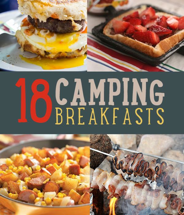 Camping recipes for quick & easy breakfasts. Try these breakfast recipes to turn up the heat on your camping food.