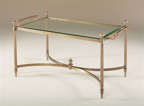 Picture Of La Barge   Hand Cast Brass Cocktail Table