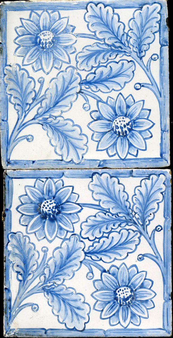 Kelmscott tile circa 1878 designed by William Morris. #blueandwhite #morris #design