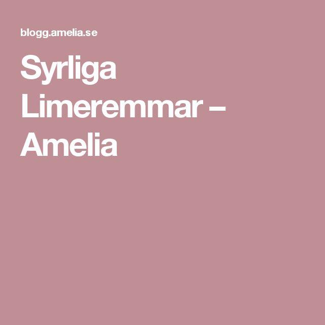 Syrliga Limeremmar – Amelia