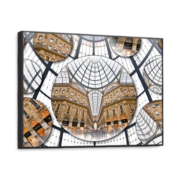 """""""Milano/Galleria"""" Art Print  -  The printing technique on wood, combined with the type of natural inks, makes the product eco-friendly. Size: 35x28 cm."""