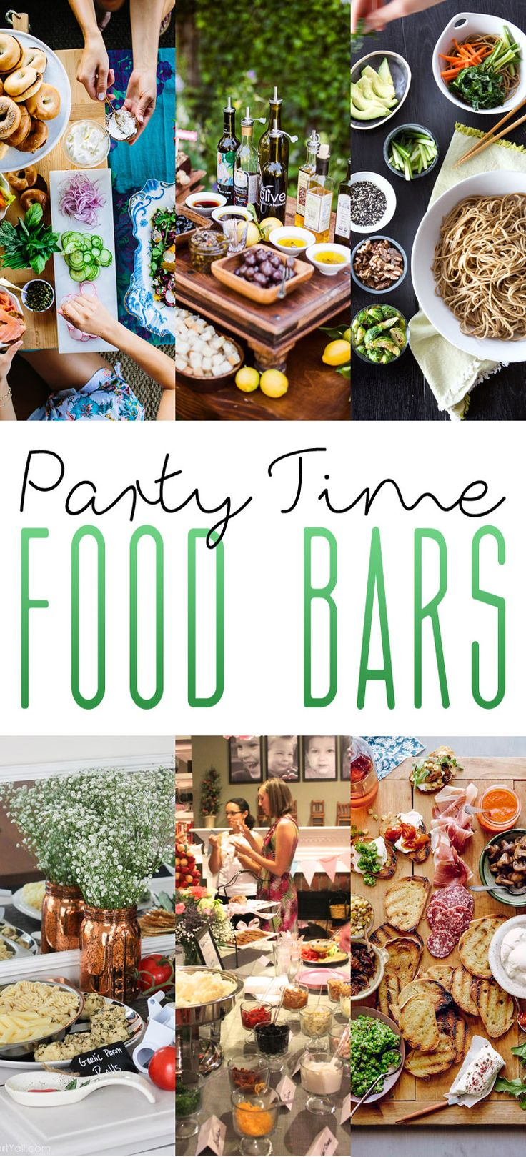I LOVE all of these ideas for Party Time Food Bars! It doesn't matter if you are celebrating on New Years Eve or if you are having a Family Brunch…there is something here for every occasion and for everyone! What I LOVE LOVE LOVE about all of these is that you do 90 percent of …