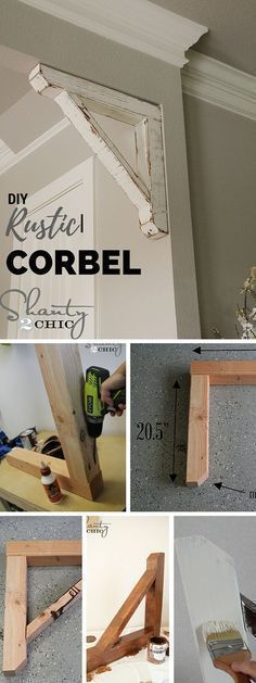 Check out this tutorial: DIY Rustic Corbel Easily add your own Farmhouse style to your Home.