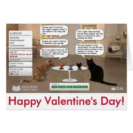 Valentine's Day card for cat lovers - click to get yours right now!