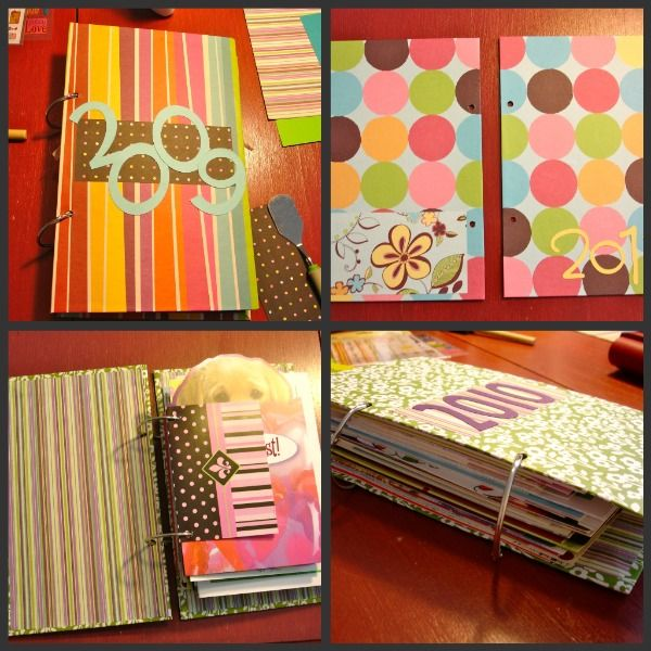 more card keepsake book ideas