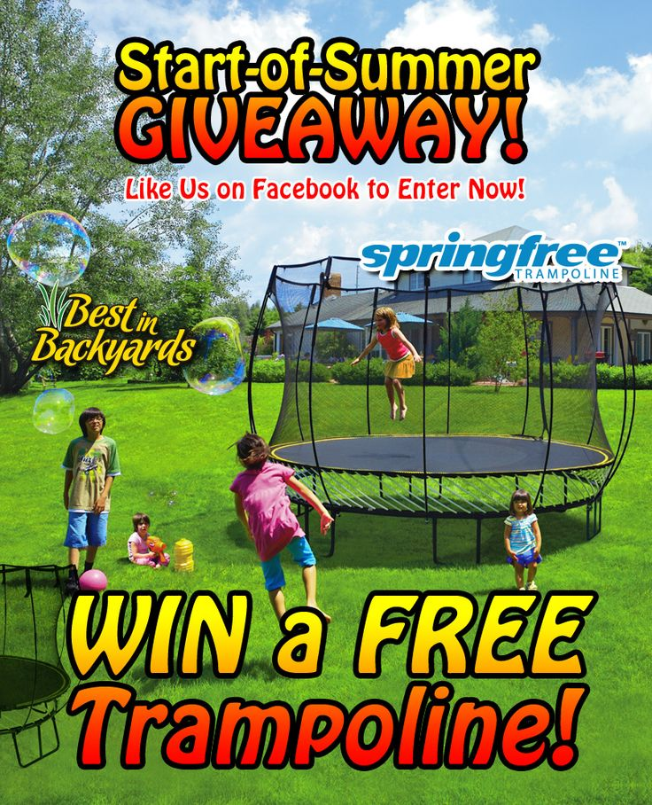 Merveilleux Want To Win A New Springfree Trampoline? Best In Backyards Is Giving One  Away!