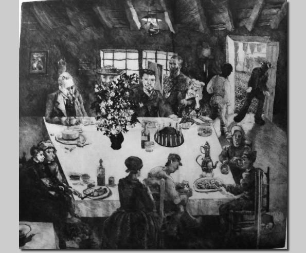 DavePearson - Etching: Vincent's Table