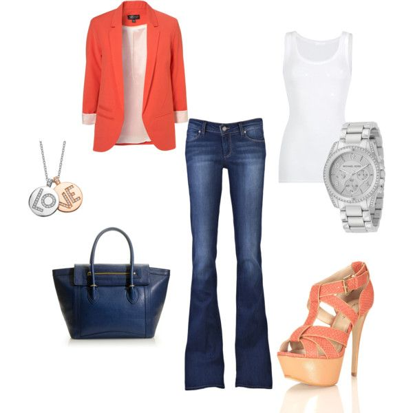Fun for summer work outfit: Casual Friday, Fashion, Clothes, Blazer Jeans, Outfit, Casual Styles, Blazers, Business Casual