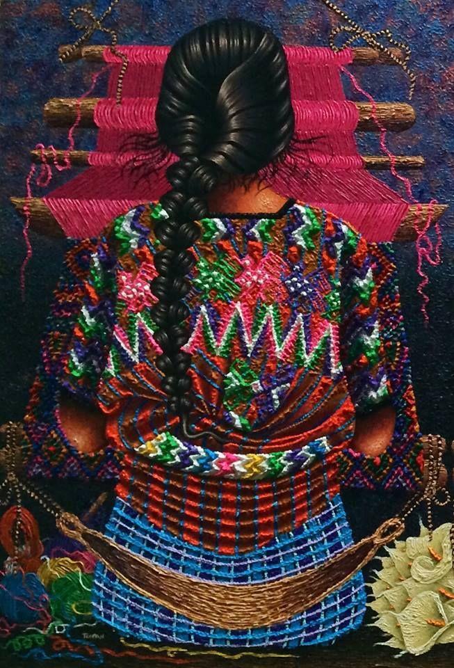 Mujer de Tecpán, Guatemala.