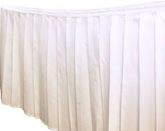 Polyester 90 Inch Round Tablecloth White At CV Linens $6.99 Per Tablecloth