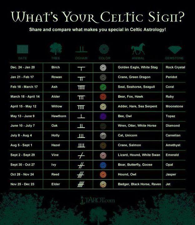 Qual é o seu signo celta?