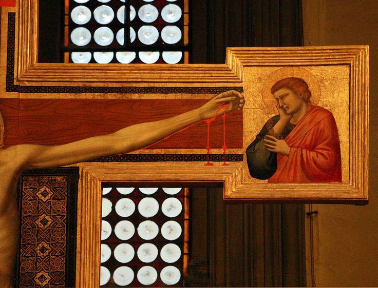 Scuola di Giotto - Crocifisso di San Felice, dettaglio - 1330 circa - chiesa di San Felice in Piazza di Firenze