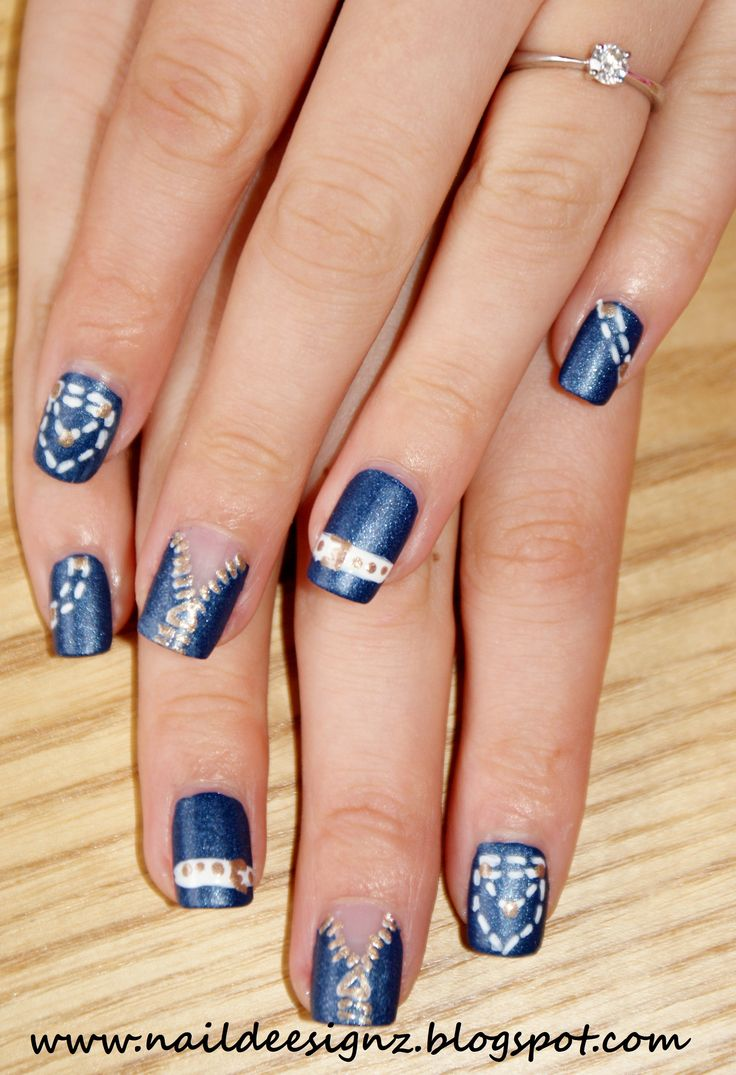 About baby boomer nail art tutorial by nded on pinterest nail art - This Weeks Nail Art Design Is A Denim Jean Nail Art Friday September Is Jeans For Genes Day So I Thought It Would Be A Good Opportu