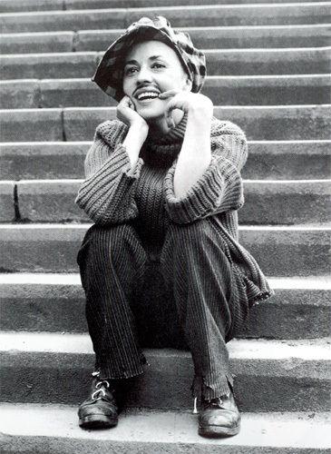 Jeanne Moreau in Jules et Jim. Always like watching woman in pants and knitwear