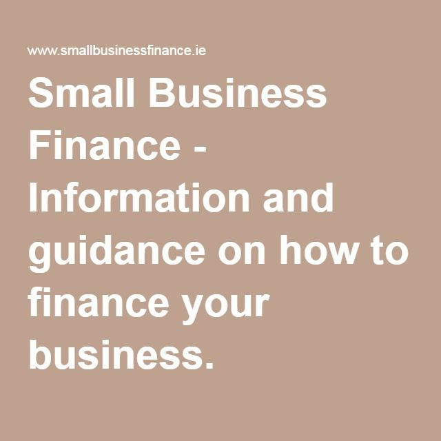Small Business Finance - Information and guidance on how to finance your business.
