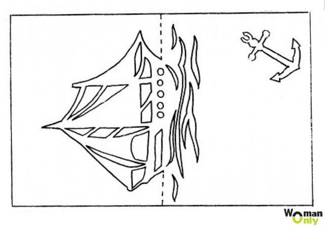 Открытка поздравление, корабль открытка к 23 февраля своими руками с шаблонами