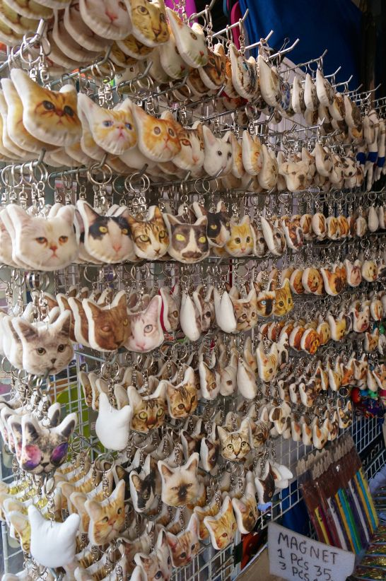 The cat souvenirs caught my eye at the market. Shopping Chatuchak Market: the Ultimate Photo Guide to Bangkok's Best Market
