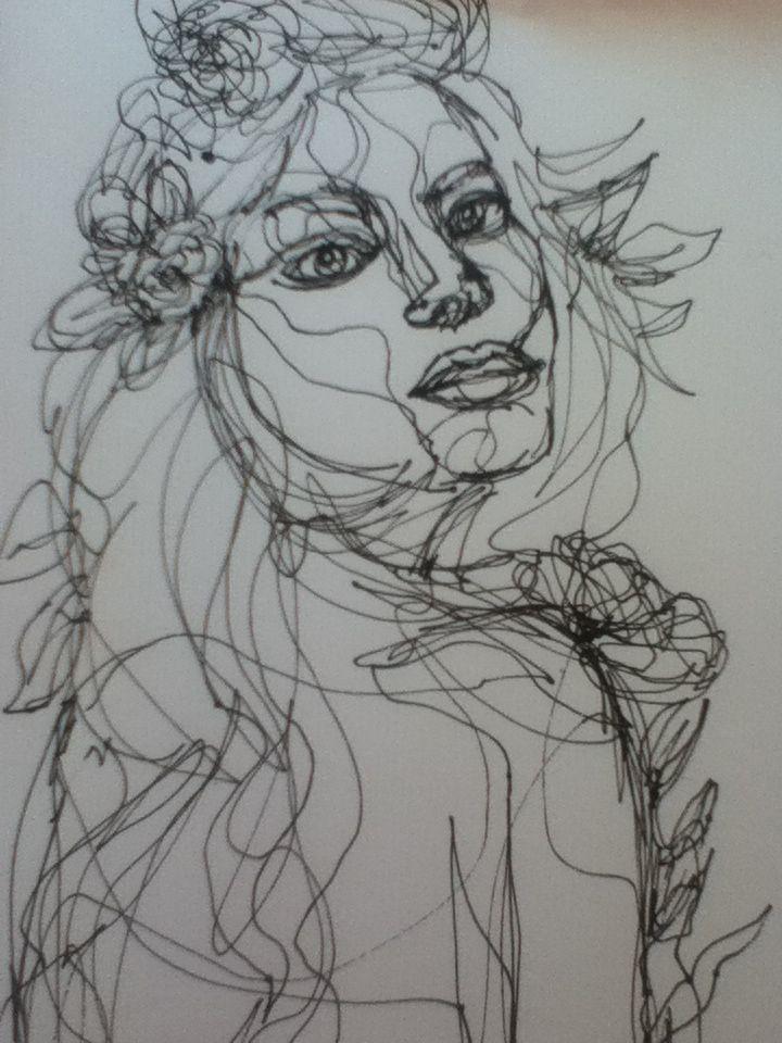 Continuous Line Drawing Artists : Best continuous contour line portraits images on pinterest