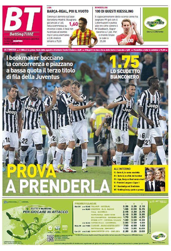 Betting Time 01 del 23-08-13 (nuova rivista di scommesse sportive) Italian | True PDF | 8 pages | 3,12 Mb