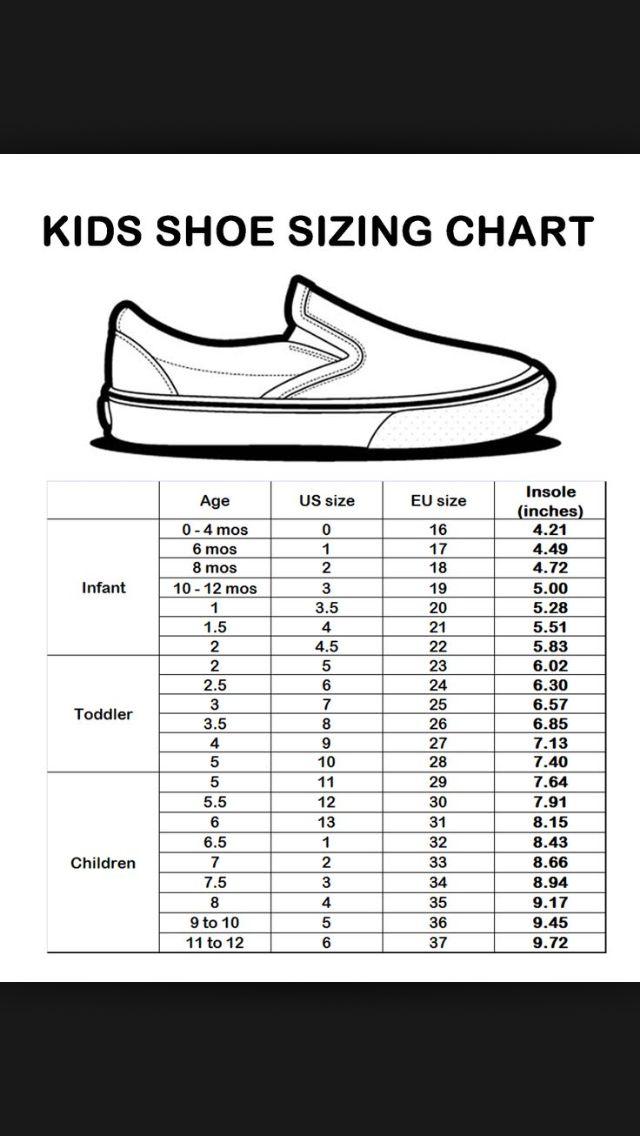 The 25+ best Shoe size chart kids ideas on Pinterest
