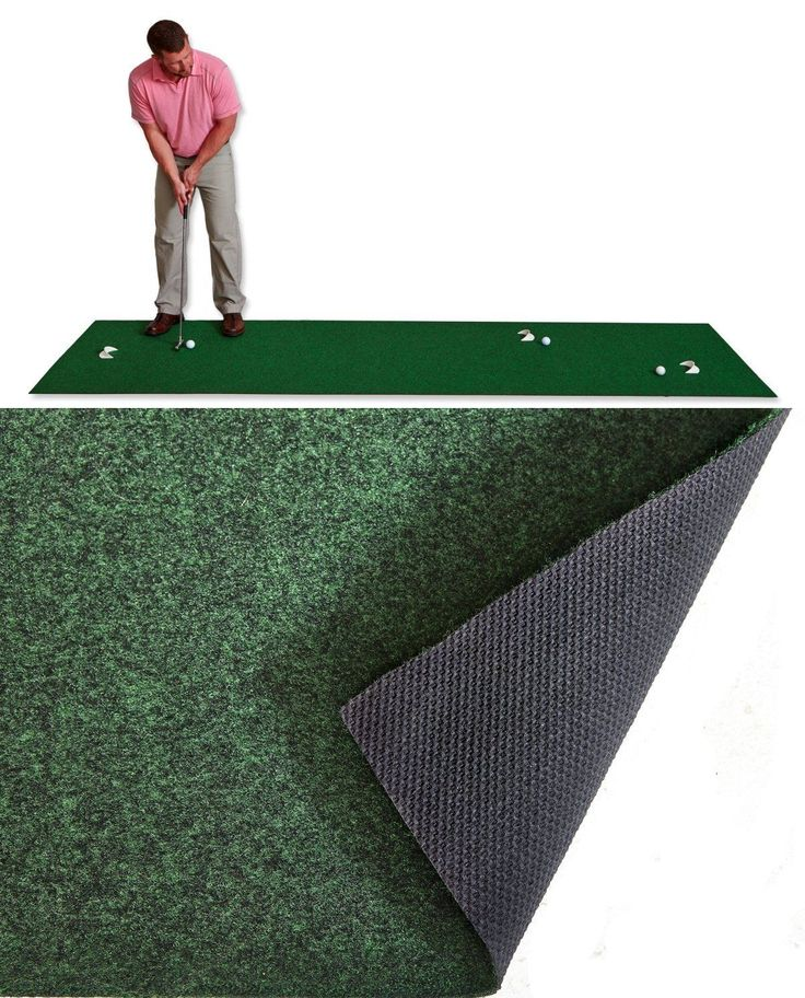 Putting Greens and Aids 36234: 3X11 Feet Golf Mat Practice Putting Green Indoor Outdoor Training Aid Equipment BUY IT NOW ONLY: $46.59