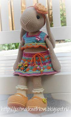 Just made with love by Antoinette: Willenein gaat Kakelbont, Gratis Patroon
