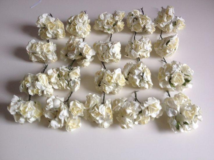 Roses blanche fleur artificielle décoration maison mariage WEDDING 2017 summer flower craft scrapbooking