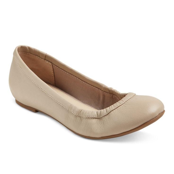 Women's Genuine 1976 Emma Wide Width Leather Ballet Flats - Doe 8.5W, Size: 8.5 Wide, Brown