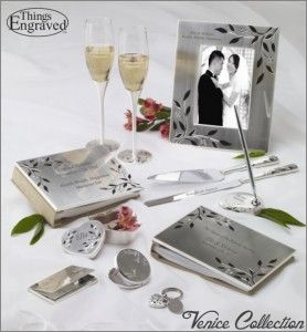 Venice Wedding Collection  http://www.thingsengraved.ca/products.php?s=x_venice  #thingsengraved #thingsengravedgifts