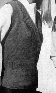Lapel Vest knit pattern from Vests, originally published by Fashions in Wool, Volume No. 120.