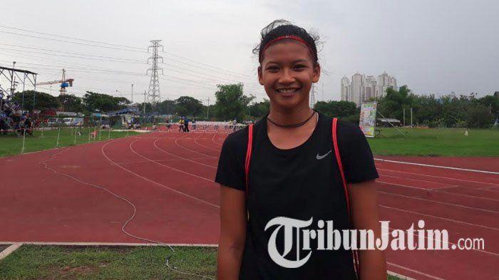 Meski Tanpa Medali, Safrina Ayu Tetap Senang Ikuti Kejuaraan Atletik Remaja Jatim