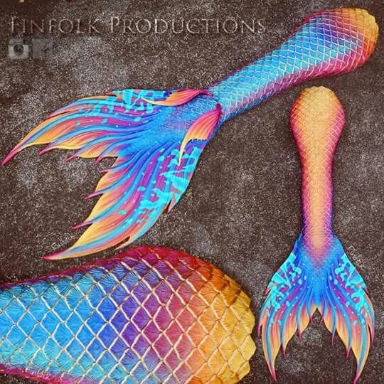 Full Silicone Mermaid Tail by Finfolk Productions.
